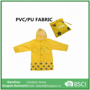 Waterproof Cartoon Children′s Raincoat for Kids Aged 4-12 pictures & photos