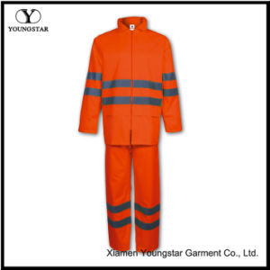 Practical PU Safety Rainsuit with Reflective Strip pictures & photos