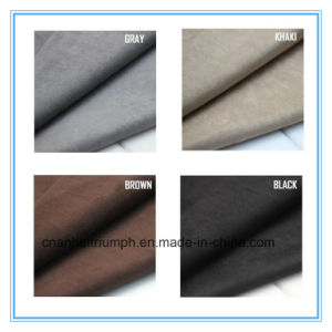 Cheap 100% Polyester Warp Faux Micro Suede Fabric pictures & photos