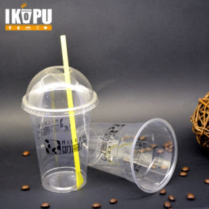 16oz Disposable Customized Plastic Pet Cup with Lid pictures & photos