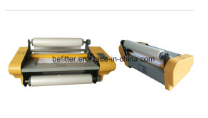 FM-358 350mm hot roll laminator on the desktop pictures & photos