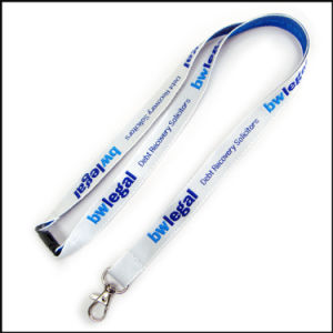3D Thick Woven/Jacquard/Embroidered Logo Custom Lanyard for Conference pictures & photos
