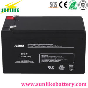 Lead-Acid Deep Cycle Solar Power Battery 12V12ah for Emergency Light pictures & photos