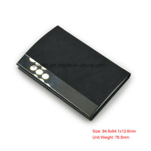 High Quality Black Business Name Card Case for Men′s Case Holder pictures & photos