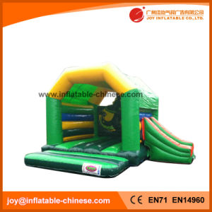 Green Color Inflatable Jumping Combo with Slide (T3-021) pictures & photos