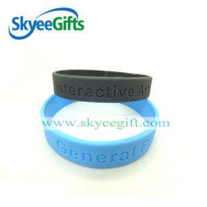 Fashion Custom Silicone Debossed Logo Wristabnds for Promotional Gift pictures & photos
