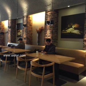 Wholesale Wooden Cafe Restaurant Furniture for Table and Chair Set pictures & photos