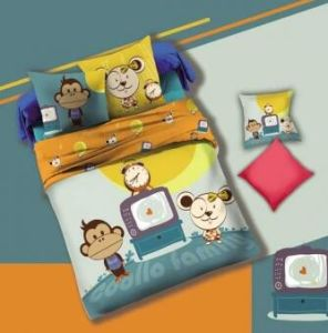 Lovely Monkey Kid′s Duvet Cover Set #130552 pictures & photos