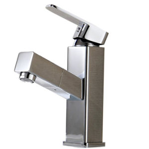 FLG Chrome Finished Pull out Single Lever Bathroom Basin Tap pictures & photos