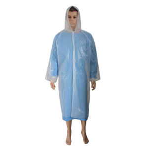 Hooded Rain Coat Disposable Visitor Coat pictures & photos