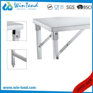 Stainless Steel Square Tube Collapsible Work Table with Height Adjustable Leg for Transport pictures & photos