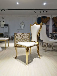 Luxury Golden High Back Wedding Chair for Banquet pictures & photos
