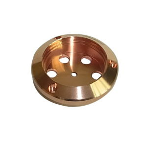 Aluminum Precision CNC Machining Audio Component Copper Plated