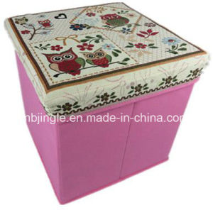 Fashion! Foldable Storage Stool with Cute Owl Printed