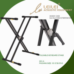 Heavy-Duty Double X Keyboard Stand (KS-1-A) pictures & photos