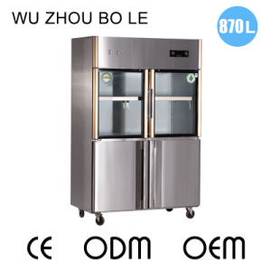 Hot Sale Double Temperature Direct Cooling Kitchen Refrigerator