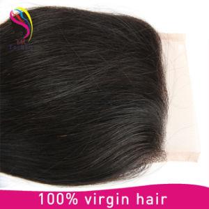 Silky Base 4*4 Straight Hair Closure 100% Virgin Hair pictures & photos