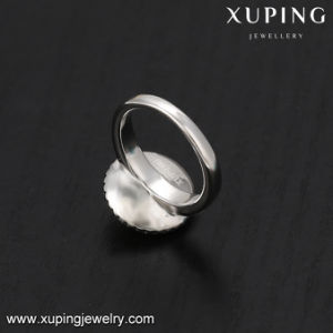 14526 Luxury Rhodium Plated Round Charm Crystal Wedding Ring pictures & photos