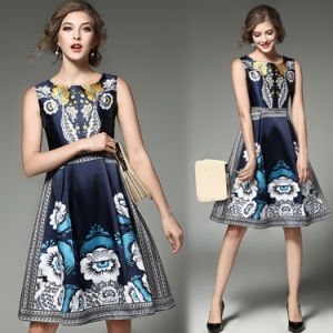 Wholesale Fashion Sleeveless Women Floral Party Dress (A135)