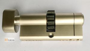 Standard 6 Pins Euro Thumbturn Cylinder Lock Satin Nickel pictures & photos