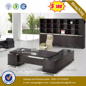 Melamine Office Table Wooden Table Top Office Desk (HX-6M028) pictures & photos