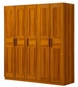 Big Wardrobe Wooden Bedroom Wardrobe with 5 Doors pictures & photos