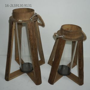 Wooden with Flax Handle on The Top of Lanterns pictures & photos