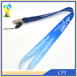 Metal ID Card Clip Heat Transfer Lanyard with Phone Loop for Fair pictures & photos