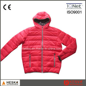 Winter Nylon Quilted Padded Mens Insulated Bomber Jacket pictures & photos