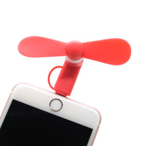 2in1 Portable Handheld Electric Hand Micro USB Mini Fan for Ios and Android Phones Outdoor Cooling Fan Tool pictures & photos