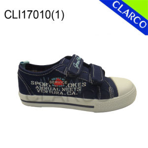 Boys Vulcanized Sports Canvas Sneaker Shoes pictures & photos