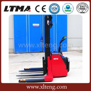 Ltma 1.5 Ton 1.8 Ton Wide Leg Electric Pallet Stacker pictures & photos