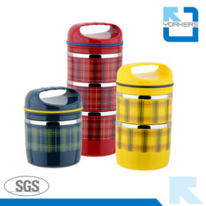 Leak-Proof 3-Layer Stainless Steel Lunch Box & Bento Lunchbox pictures & photos