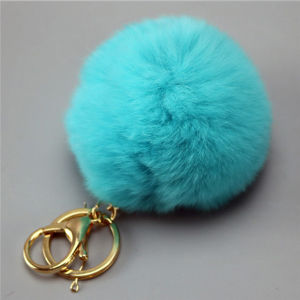 Bag Handbag Car Pendant Charm Real Rex Rabbit Fur pictures & photos