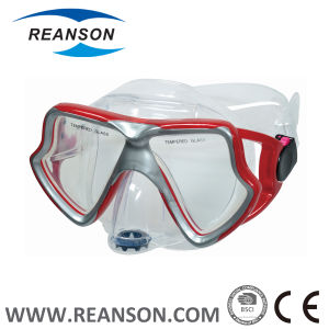 Double Color Injection Diving Mask for Adult with Exhaust Valve pictures & photos
