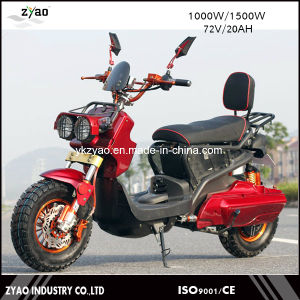 72V 1000W Vespa Electric Scooter, 2 Wheel Electric Standing Moped with Pedal pictures & photos