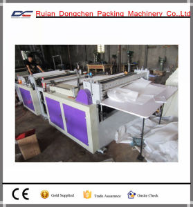 Computer Control Non Woven Fabric Bag Cross Cutting Machinery at Facory Price (DC-HQ) pictures & photos