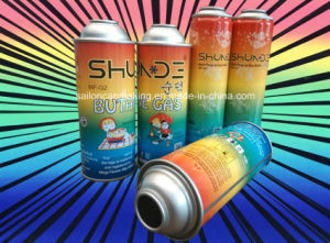 Butane Gas Cans with Shining Pattern Printing and Coating pictures & photos