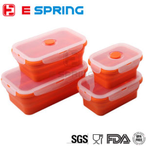 Set of 4 Collapsible Silicone Food Container Storage Box