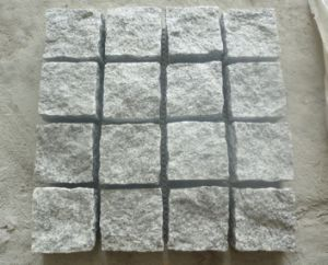G603 White Grey Granite Cube Stone Cobble Stone Paving pictures & photos