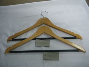 Natural Wood Garment Usage Wooden Hanger pictures & photos