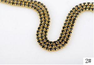 Fancy Stone Chaton Cup Chain Rhinestone Trim Chain (TCG-ss12 peridot) pictures & photos