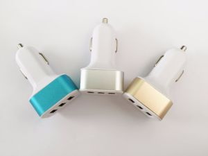 High Quality Fast 3 USB Mobile Phone Battery Car Charger pictures & photos