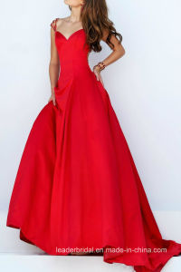 2017 Prom Formal Gown Beading Back Satin Evening Dresses Ld15293 pictures & photos