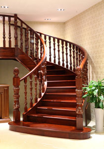 Chinese Style Natural Solid Wood Interior Stairs pictures & photos