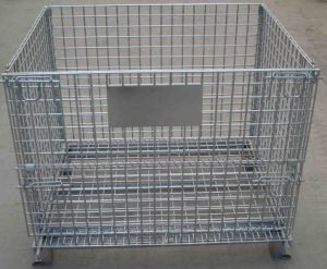 Foldable Stackable Steel Wire Mesh Stillage Container pictures & photos