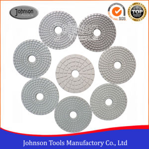 100mm White Polishing Pad for Stone pictures & photos