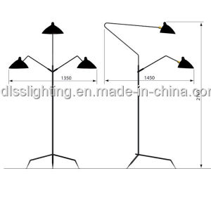 Modern Style Black Floor Lamps for Home Decoration pictures & photos