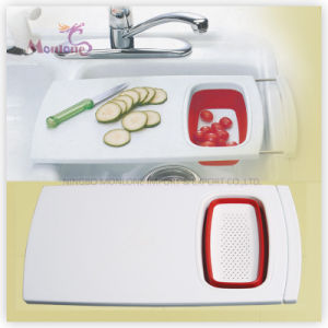 Plastic PP+TPR Multi-Functional Chopping Board pictures & photos