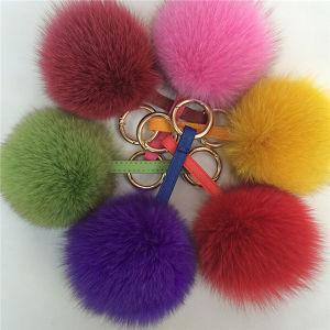 Custom Keychain Fox Fur Pompoms, Fur Ball Keychain pictures & photos